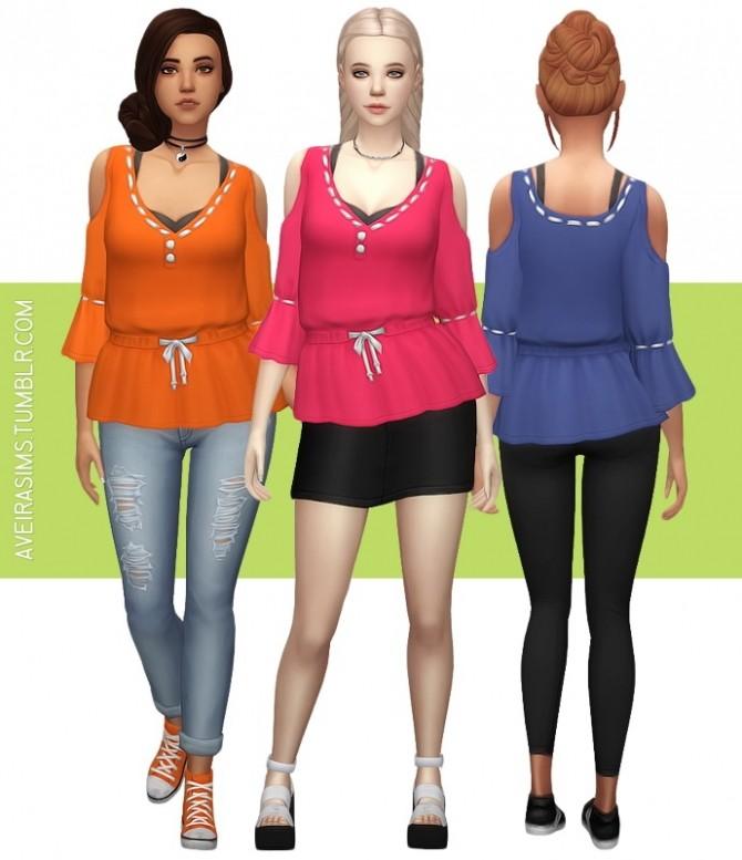 Sims 4 Parenthood Artsy Shirt Recolor at Aveira Sims 4