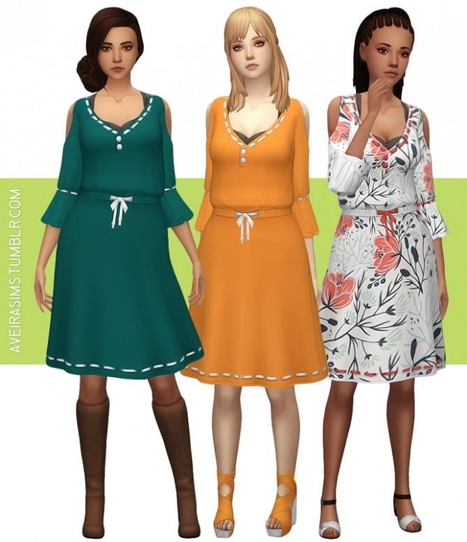 Sims 4 Artsy Dress at Aveira Sims 4