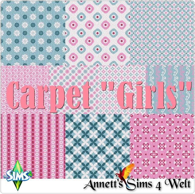 Sims 4 Girls wallpapers & carpet at Annett's Sims 4 Welt