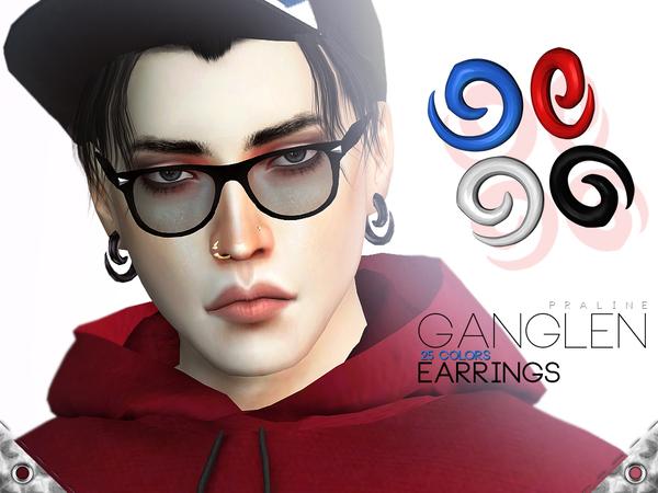 Sims 4 Ganglen Earrings by Pralinesims at TSR