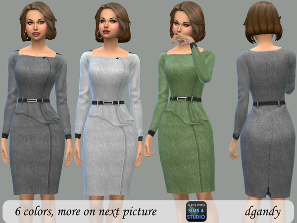 Sims 4 Wool Pencil Dress by dgandy at TSR