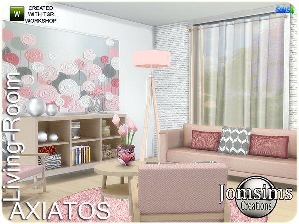 Axiatos living room by jomsims at TSR image 2425 Sims 4 Updates