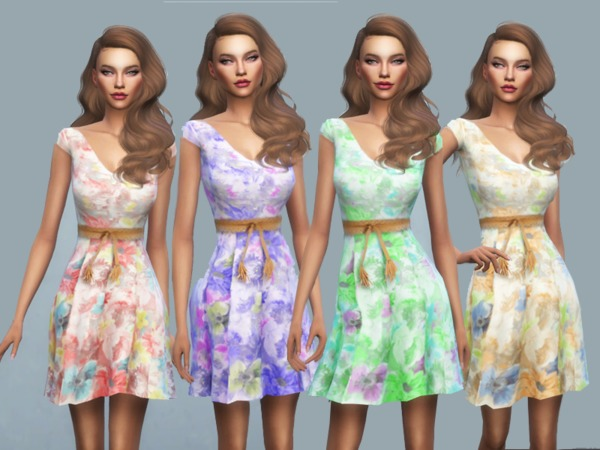 KM Floral Summer Dress by Kitty.Meow at TSR image 2426 Sims 4 Updates