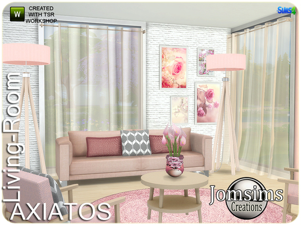 Axiatos living room by jomsims at TSR image 2526 Sims 4 Updates