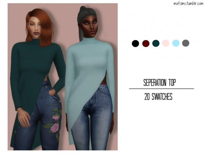 Sims 4 Seperation Top at MXFSims