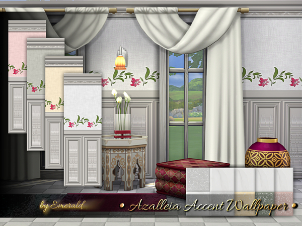 Azalleia Accent Wallpaper by emerald at TSR image 2628 Sims 4 Updates