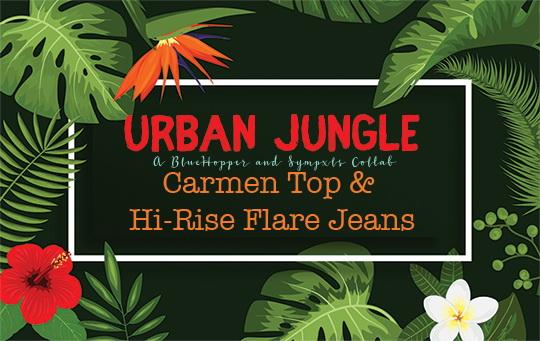 Sims 4 Carmen Top & Hi Rise Flare Jeans Recolor by Sympxls at SimsWorkshop