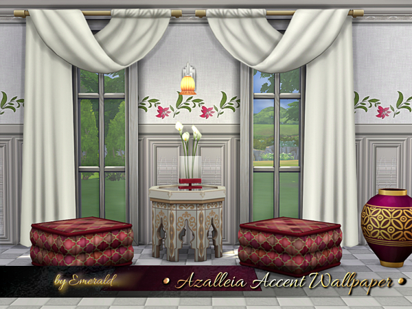 Azalleia Accent Wallpaper by emerald at TSR image 2727 Sims 4 Updates