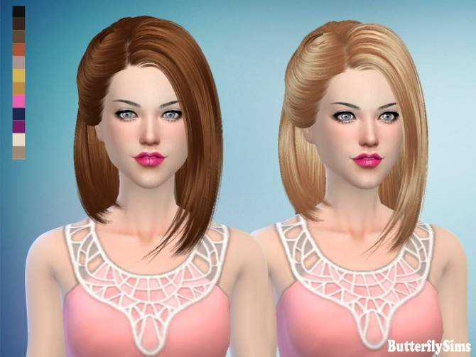 B fly AF hair 173 No hat by YOYO (free) at Butterfly Sims image 273 670x503 Sims 4 Updates