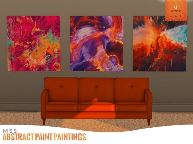 Sims 4 Abstract Paintings by midnightskysims at SimsWorkshop