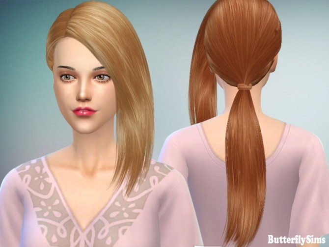 Sims 4 B fly hair AF 156 Nohat by YOYO (Free) at Butterfly Sims