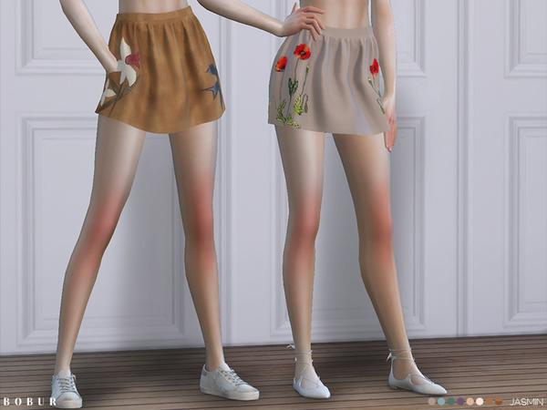 Sims 4 Jasmin skirt by Bobur3 at TSR