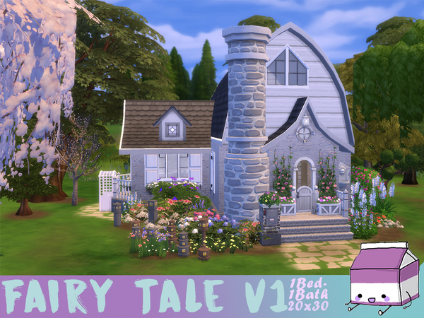 Sims 4 Fairy Tale Cottage by CandanceLakes at TSR