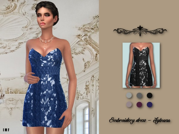 IMF Embroidery Dress Sylvana by IzzieMcFire at TSR image 2924 Sims 4 Updates