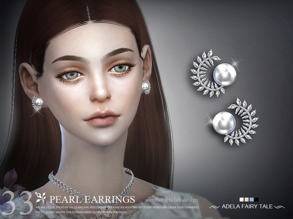 Earrings N33 by S Club LL at TSR image 3 Sims 4 Updates