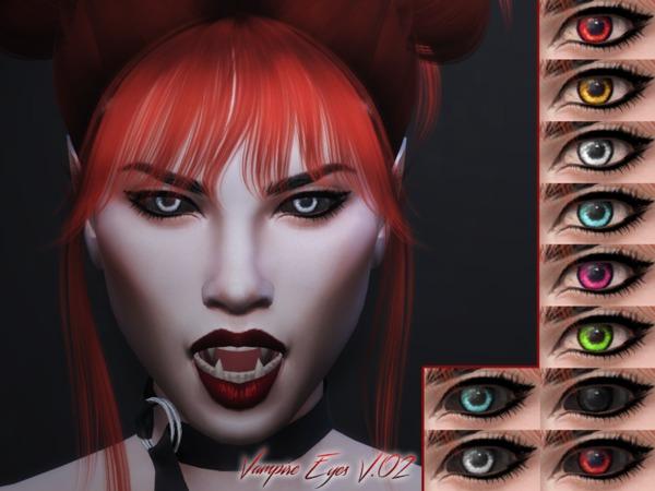 Sims 4 KM Vampire Eyes V.02 by Kitty.Meow at TSR