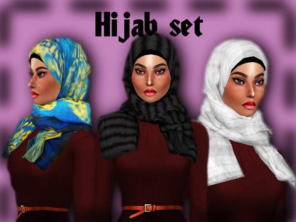 Sims 4 Hijab set by Sharareh at TSR