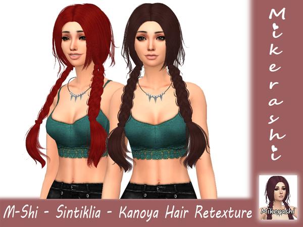 M Shi Sintiklia Kanoya Hair Retexture by mikerashi at TSR image 3020 Sims 4 Updates