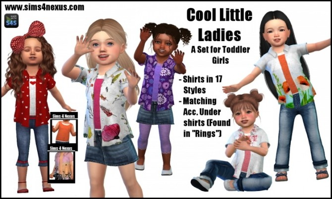 Cool Little Ladies shirts by SamanthaGump at Sims 4 Nexus image 3101 670x402 Sims 4 Updates