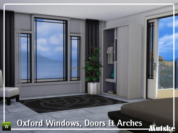 Oxford Windows, Doors and Arches by mutske at TSR image 3109 Sims 4 Updates