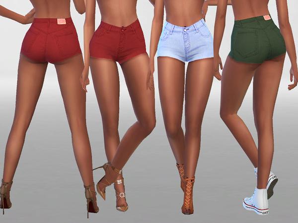Sims 4 Summer Denim Shorts 021 by Pinkzombiecupcakes at TSR