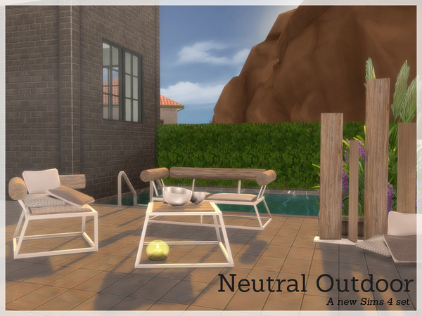 Neutral garden set by Angela at TSR image 3514 Sims 4 Updates