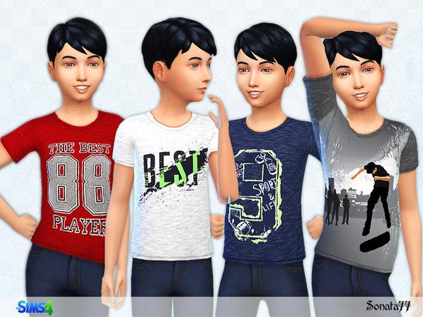 S77 boy 19 t shirts by Sonata77 at TSR image 3520 Sims 4 Updates