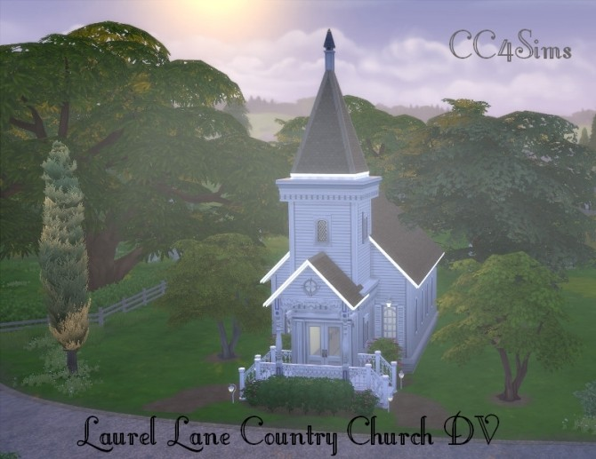 Laurel Lane Country Church DV by Christine at CC4Sims image 359 670x517 Sims 4 Updates