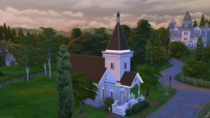 Laurel Lane Country Church DV by Christine at CC4Sims image 360 670x377 Sims 4 Updates