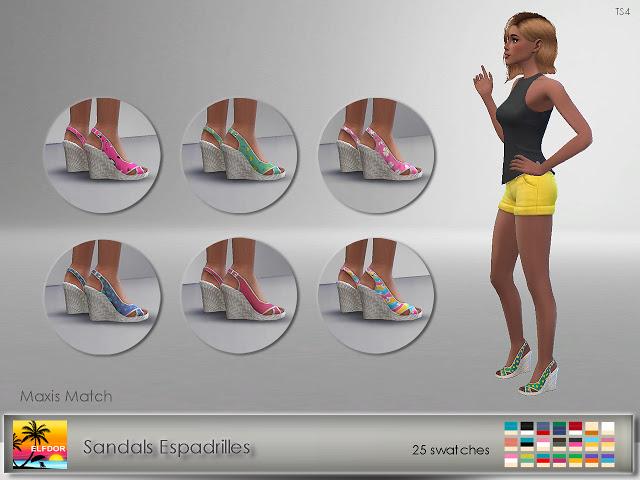 Sandals Espadrilles at Elfdor Sims image 3851 Sims 4 Updates