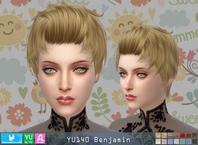 Sims 4 YU140 Benjamin hair F (Pay) at Newsea Sims 4