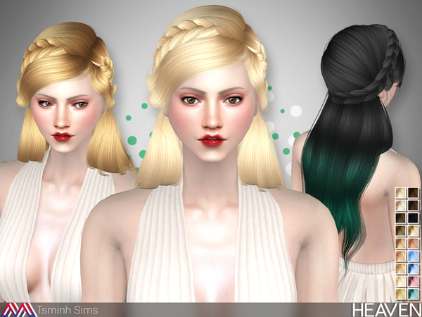 Heaven Hair 33 by TsminhSims at TSR image 3915 Sims 4 Updates