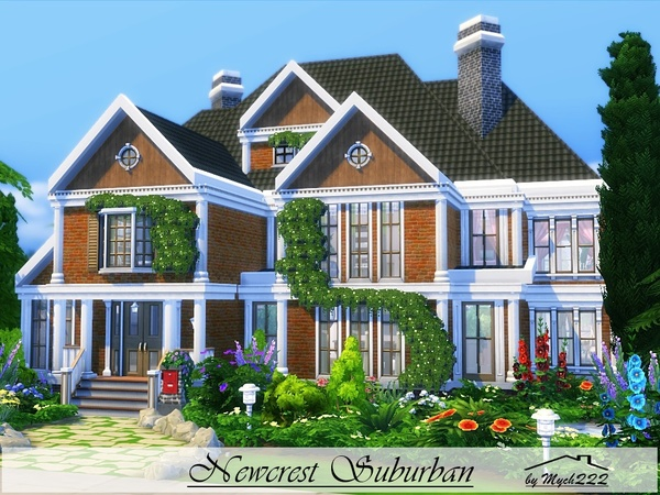 Sims 4 Newcrest Suburban by MychQQQ at TSR