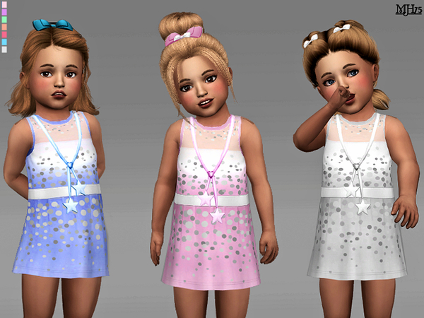 Sims 4 Sweet Toddler Dress by Margeh 75 at TSR
