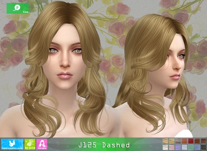 J125 Dashed hair (Free) at Newsea Sims 4 image 3921 670x491 Sims 4 Updates
