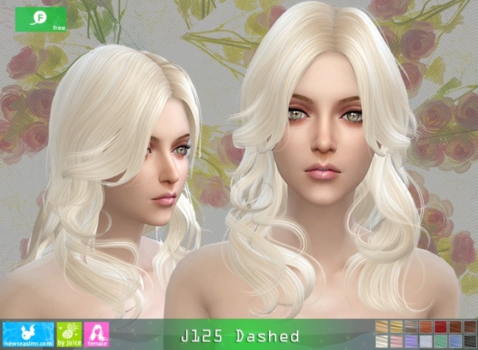J125 Dashed hair (Free) at Newsea Sims 4 image 3931 670x491 Sims 4 Updates