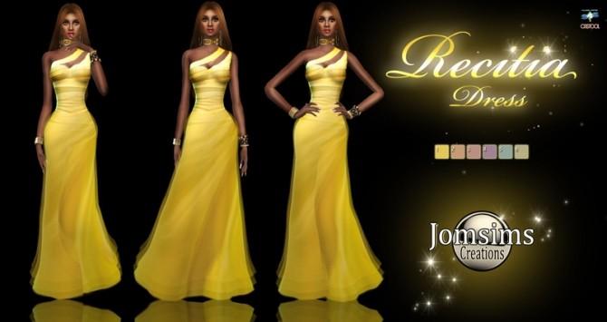 Sims 4 Recitia dress at Jomsims Creations