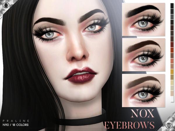 Sims 4 Nox Eyebrows N110 by Pralinesims at TSR