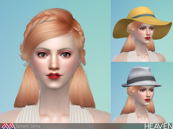 Heaven Hair 33 by TsminhSims at TSR image 4015 Sims 4 Updates
