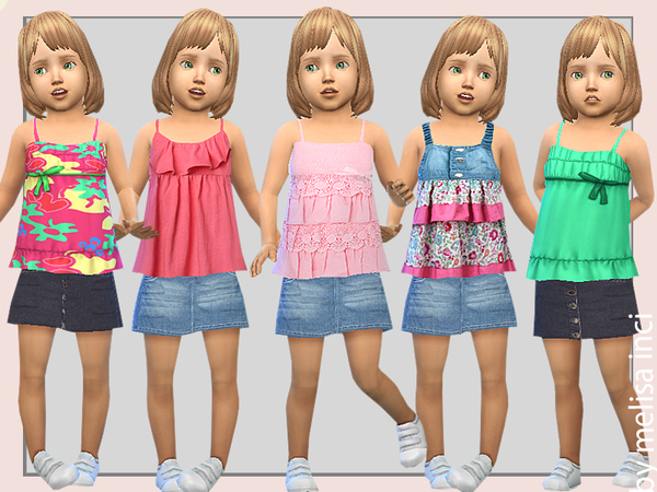 Toddler Tank Dress by melisa inci at TSR image 4017 Sims 4 Updates