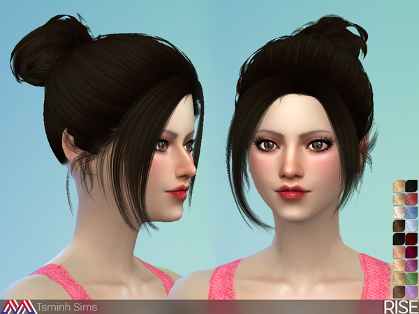 Rise Hair 34 by TsminhSims at TSR image 4018 Sims 4 Updates