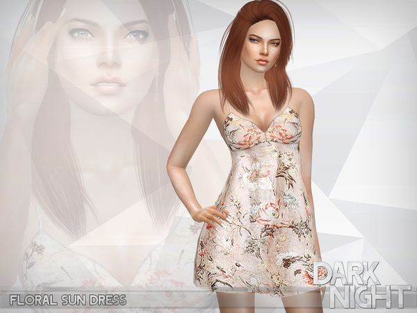 Floral Sun Dress by DarkNighTt at TSR image 402 Sims 4 Updates