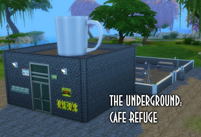 Sims 4 The Underground Cafe Refuge by ElaineMc at Mod The Sims