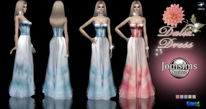 Sims 4 Dalia dress at Jomsims Creations