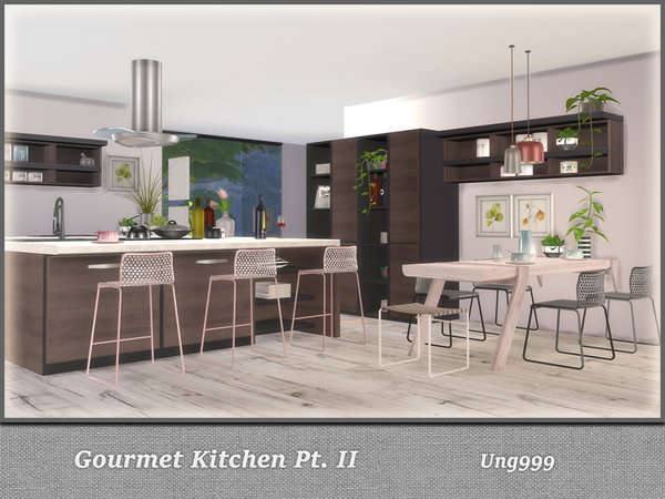 Gourmet Kitchen Pt. II by ung999 at TSR image 4103 Sims 4 Updates