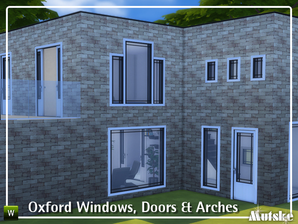 Sims 4 Oxford Windows, Doors and Arches by mutske at TSR