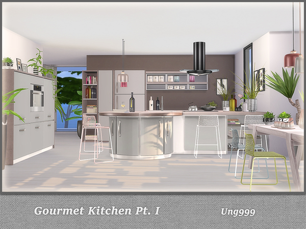Gourmet Kitchen Pt. I by ung999 at TSR image 4115 Sims 4 Updates