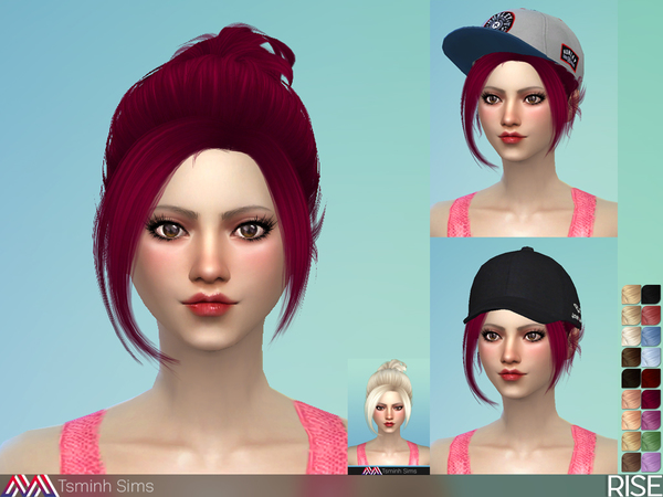 Sims 4 Rise Hair 34 by TsminhSims at TSR