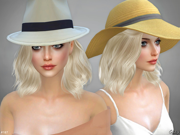 Sims 4 Haley female hair by Cazy at TSR