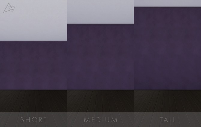 Sims 4 Dark Plaster Walls by lunaalexandra24 at Mod The Sims